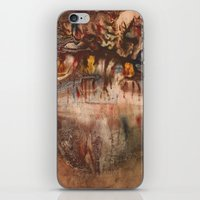 middle earth iPhone & iPod Skins featuring Middle of the Earth by Loredana