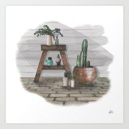 Green Home, Happy Home Art Print