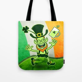 Leprechaun Full of Joy Celebrating St Patrick's Day Tote Bag