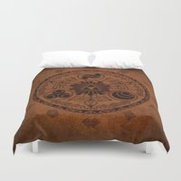 the legend of zelda Duvet Covers featuring The Legend Of Zelda by Electra