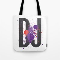 paramore Tote Bags featuring Art DJ by Sitchko Igor