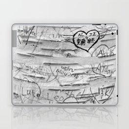 Love Memories in Lover's Lane, Green Gables, black white Laptop & iPad Skin