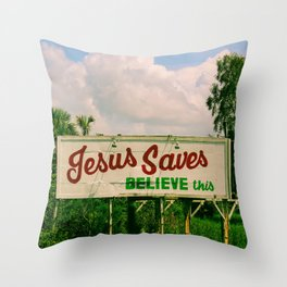 Jesus Saves Throw Pillow