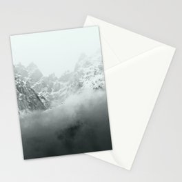 Mont Blanc in Black and White Stationery Cards