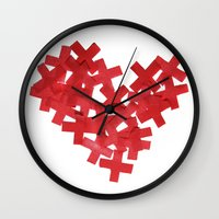medicine Wall Clocks featuring medicine heart by bugo