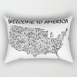 Welcome to America Guns Map Rectangular Pillow