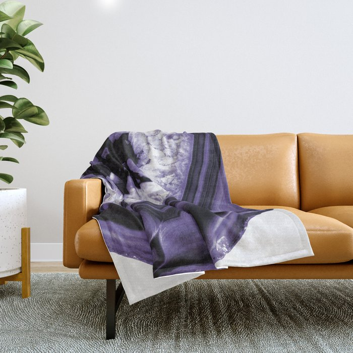 Ultra Violet Agate Chic #1 #gem #decor #art #society6 Throw Blanket