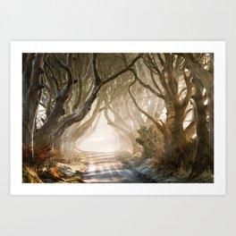 The Dark Hedges - GoT - Co. Antrim - Northen Ireland Art Print