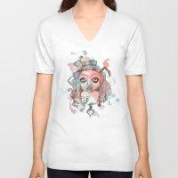 gypsy V-neck T-shirts featuring Gypsy  by Kate Melendez