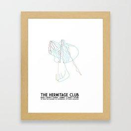 The Hermitage Club, VT - Minimalist Winter Trail Art Framed Art Print