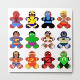 Superhero Gingerbread Man Metal Print