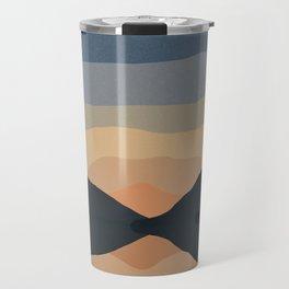 Sunset Mountain Reflection in Water Travel Mug
