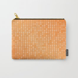 Dotted Orange Background Design Carry-All Pouch