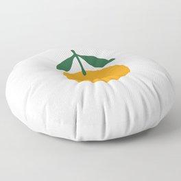 Orange Summer Citrus Floor Pillow