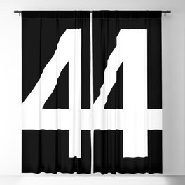 Number 4 (White & Black) Blackout Curtain