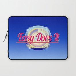 EASY DOES IT logo style Laptop Sleeve