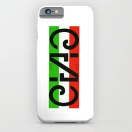 """""""CIAO"""" Invertible and perfectly symmetrical Italian word design iPhone Case"""