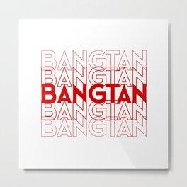 Bangtan/BTS Shirt Metal Print