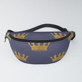 Royal Blue with Gold Crowns Fanny Pack