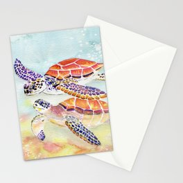 Swimming Together - Sea Turtle Stationery Cards