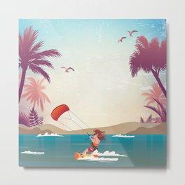 Kite surfer Woman Theme Metal Print
