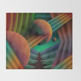 Planet Path Throw Blanket