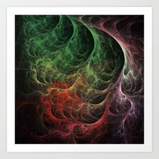 Abstract Art Space Fire Art Print