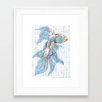 koi fish Framed Art Prints featuring Koi Fish by MadameAce