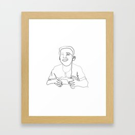 """ Gaming Collection "" - Boy Playing Video Games Framed Art Print"