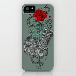 Hawk Rose iPhone Case