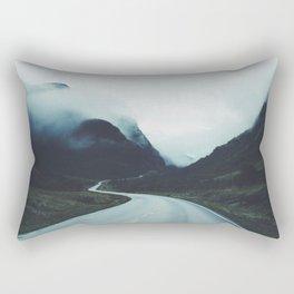 Dark road Rectangular Pillow