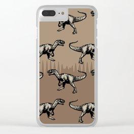 ChocoPaleo: Allosaurus Clear iPhone Case