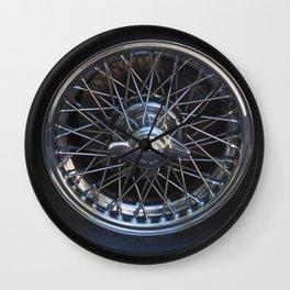 Triumph Chrome & Spoke Wheel Wall Clock