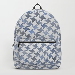 MODERN HOUNDSTOOTH (BLUE), hand-painted by Frank-Joseph Backpack