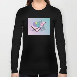 Memphis pattern 44 - 80s / 90s Retro Long Sleeve T-shirt