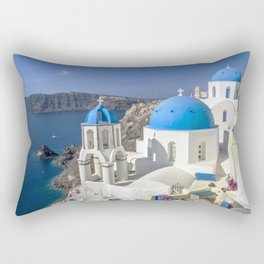 Santorini, Oia Village, Greece Rectangular Pillow