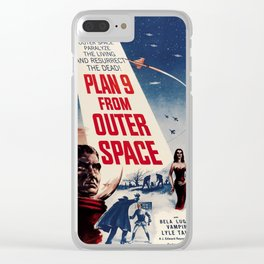 Retro Space Movie Poster Fun Clear iPhone Case