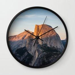 Half Dome at Sunset Wall Clock