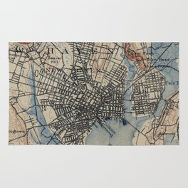 Vintage Map of New Haven Connecticut (1890) Rug