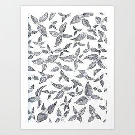 Broody Botanical Art Print