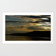 sundown;3 Art Print