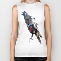 raven Biker Tanks featuring Raven by Jeffrey J. Irwin