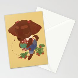 Strawberry Picker Stationery Cards