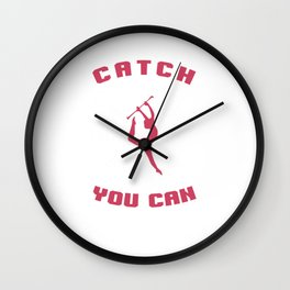 Catch Me If You Can Baton Twirling Flag Spinning Gymnastics Gymnasts Gift Wall Clock