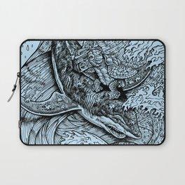 i only surf on SHARKS! Laptop Sleeve