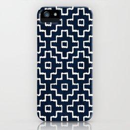 Blue Geometric Pattern iPhone Case