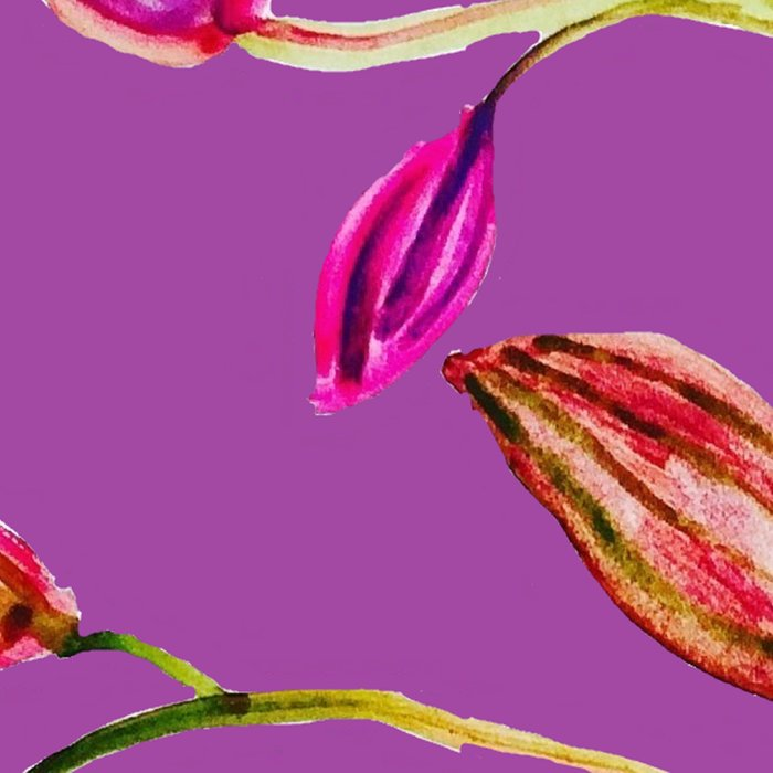 For Valentine's Day Enjoy Purple Plum, Red and Green Leaves! Leggings