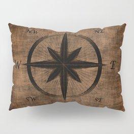 Nostalgic Old Compass Rose Pillow Sham