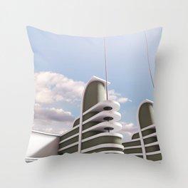 PAN PACIFIC AUDITORIUM COLOR Throw Pillow