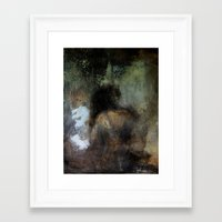 imagerybydianna Framed Art Prints featuring among her declining days by Imagery by dianna